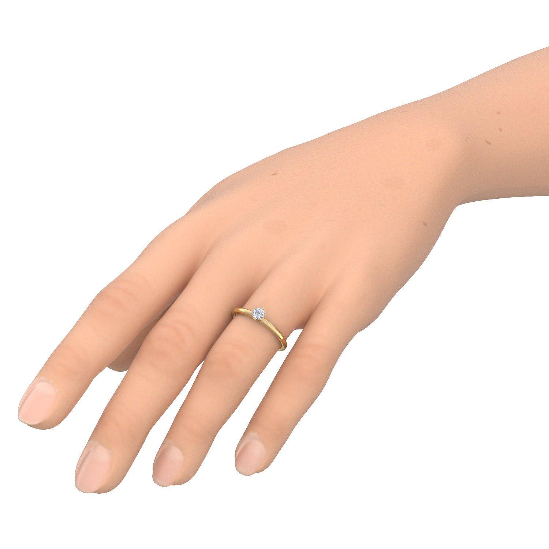 Ring gold  Gold Ring Verlobungsringe Gold (Silber 925 hochwertig vergoldet ...